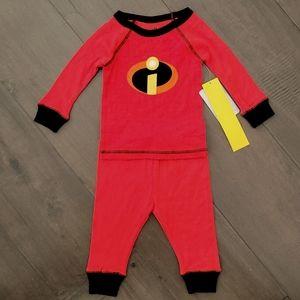 NWT ShopDisney Baby Incredibles Pajamas 9-12m